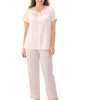Exquisite Form® 2-Piece Short Sleeve Pajama Set 90107 image 5 - Brayola