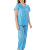 Exquisite Form® 2-Piece Short Sleeve Pajama Set 90107 image 4 - Brayola