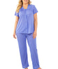 Exquisite Form® 2-Piece Short Sleeve Pajama Set 90107 image 7 - Brayola
