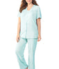 Exquisite Form® 2-Piece Short Sleeve Pajama Set 90107 image 3 - Brayola