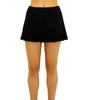 Black Fit4U Solid Swim Skirted Bottom With Flounce 905103 image 2 - Brayola
