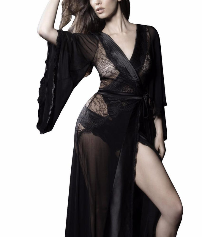 Kaviar Nicolette Sheer Dressing Gown 94-10467 at Brayola