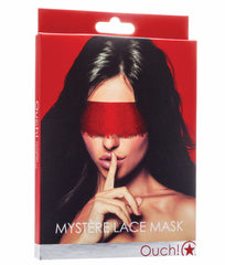 Red OUCH Mystere Lace Mask A04242 image 2 - Brayola