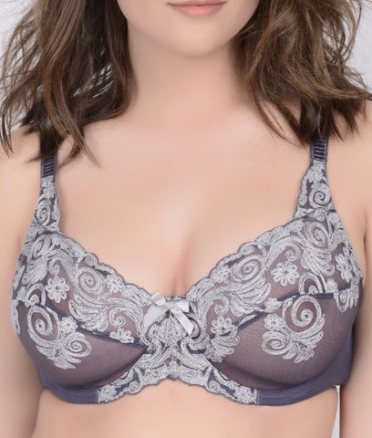 Creme Bralee by Q-T Intimates Abigail Embroidered Bra 15130