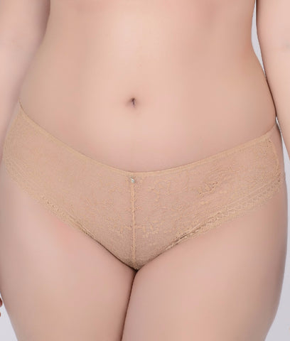 Image of Crème Bralée by Q-T Intimates Annalise Lace Boyshort 14716BL