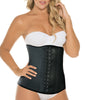 Black Curveez Latex Thermal 3 Pos Hook Cincher Long CUR2031 image 2 - Brayola