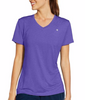 Feeder Stripe Pizzazz Purple Champion Vapor Women's Stripe V-Neck Tee W0776 image 2 - Brayola