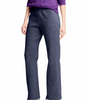 Navy Heather Hanes ComfortSoft ; EcoSmart Women's Open Leg Fleece Sweatpants O4629 image 2 - Brayola