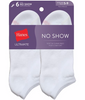 White Hanes Ultimate Women's No-Show Socks 6-Pack UC106 image 2 - Brayola