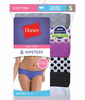 Hanes Women's No Ride Up Cotton Hipster Panties 6-Pack PP41AS image 3 - Brayola