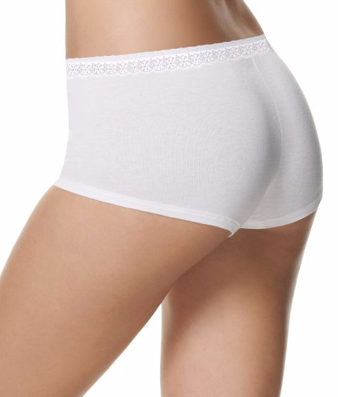 a354f9dba94 ... Hanes Women s Cotton Stretch Boy Brief with ComfortSoft Lace Waistband 3 -Pack ET49LC image 3