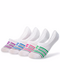 White/purple Assorted Champion Women's Performance Liner Stripe Socks 4-Pack CH218 image 2 - Brayola
