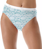 Lace Hanes Women's No Ride Up Cotton Hi-Cut Panties 6-Pack PP43WB image 2 - Brayola