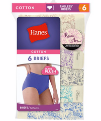 Assorted Hanes Women's Roses are… Briefs Limited Edition Assorted 6-Pack PP40F3 image 2 - Brayola