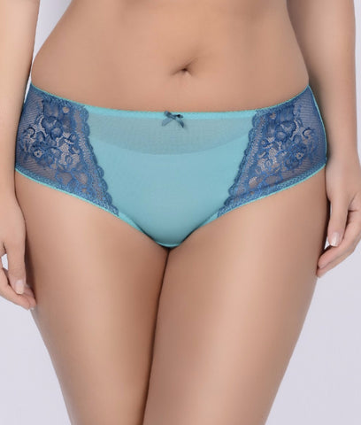 Image of Crème Bralée by Q-T Intimates Celina Lace Boyshort 15333BL