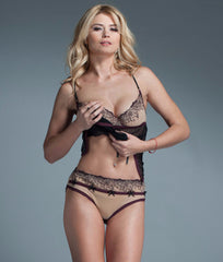Fearless and Fun Embroidered Sheer Brief Panty FAF-D253 image 2 - Brayola