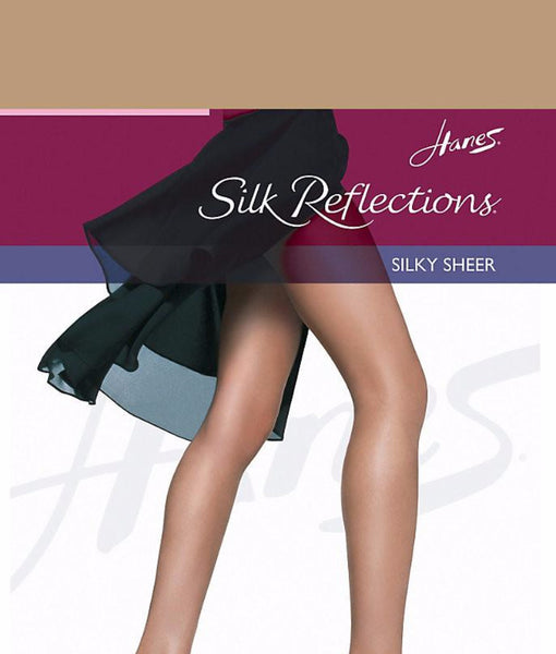 e8a682248 Hanes Silk Reflections Reinforced Toe Pantyhose 716 at Brayola