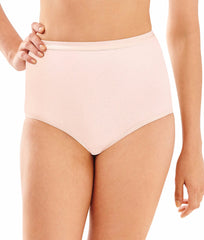 Silken Pink Bali Full Cut Fit Stretch Brief 2324 image 2 - Brayola