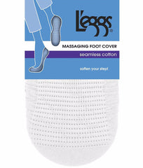 White L'eggs Seamless Cotton Foot Cover 3926 image 2 - Brayola