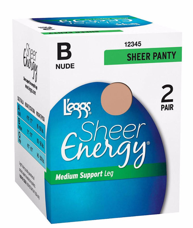 28bee063b Suntan L eggs Sheer Energy All Sheer 2 Pair 30800 image 1 - Brayola