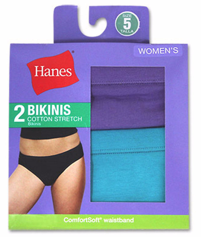 151fb418a725 Assorted Hanes Women's Cotton Stretch Bikinis D42EAS image 1 - Brayola