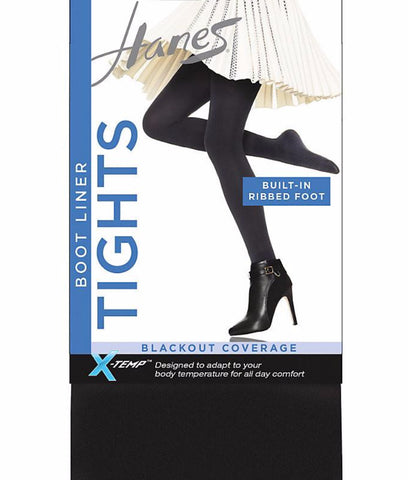 Hanes X -Temp Blackout Boot Liner Tight with Smoothing Panty C165