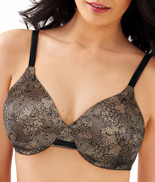 99573e3370cd Black/nude Lace Print Bali One Smooth U® Smoothing & Concealing Underwire  Bra 3W11