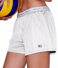 White Champion Women's Mesh Shorts 7791 image 2 - Brayola