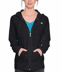 Black Champion Authentic Women's Jersey Jacket J7418 image 2 - Brayola