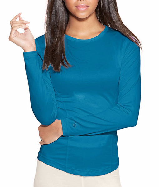 34c48b27 Underwater Blue Duofold by Champion Varitherm Women's Base-Layer  Long-Sleeve KMC3