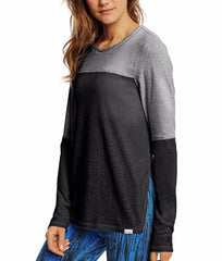 Black/granite Heather Champion Women's Loose Fit Tee W0011 image 2 - Brayola