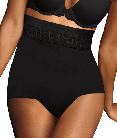 Maidenform Stay Put High Waist Brief DM0040 wellness activities to stay healthy Wellness Activities to Stay Healthy HBI DM0040 Black large