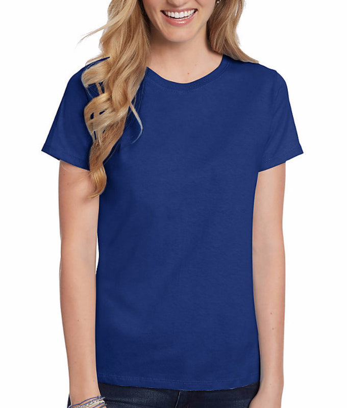 d354fcc741 Deep Royal Hanes Women s Relaxed Fit Jersey ComfortSoft Crewneck T-Shirt  5680 image 1 -