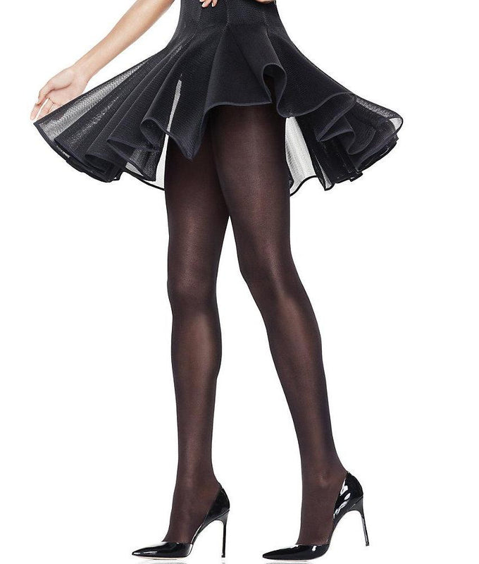 8fe96880709 Black Hanes X-Temp® Opaque Control Top Tights with Comfort Waistband HFT012  image 1