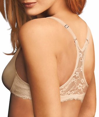 6b335879cc Nude Underwire Size 36C Maidenform One Fab Fit Lace T-Back Bra 7112 .