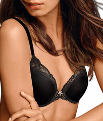 Black W/body Beige Lining Maidenform Comfort Devotion Maximizer Push-Up Bra 9461 image 2 - Brayola