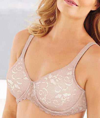 Lilyette - Beautiful Support Lace Minimizer Bra
