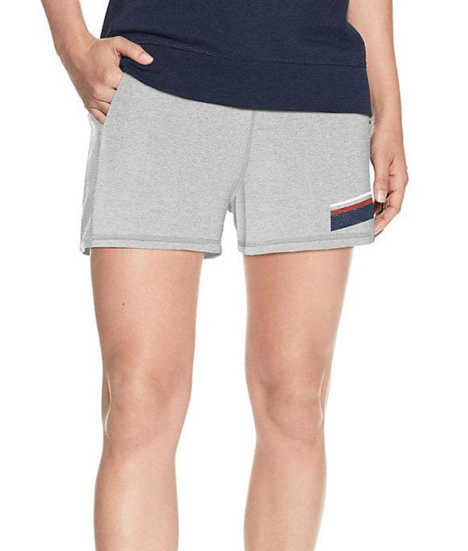 100d4ff2f539 Oxford Grey Heather Champion Women s Heritage French Terry Shorts With  Stripes M9499 549673 image 1 -