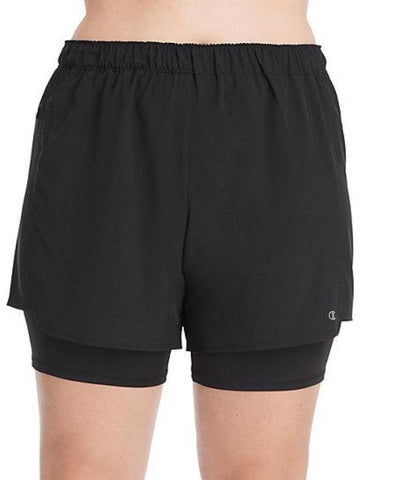 Champion Plus Size Stretch Woven 2-in-1 Shorts QM0255
