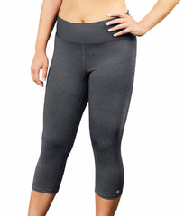 Granite Heather Champion Women's Plus Absolute Capris With SmoothTec Waistband QM0979 image 2 - Brayola