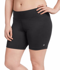Black Champion Women's Plus Absolute Shorts QM1037 image 2 - Brayola