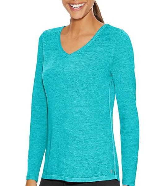 45956331f0199 Upbeat Teal Champion Authentic Wash Long Sleeve Tee W1273