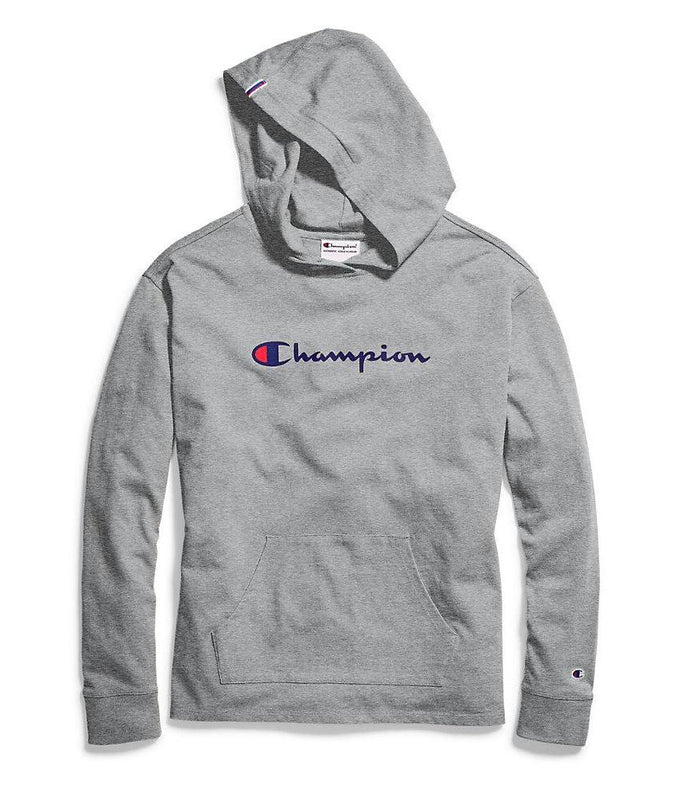 b9ff467efea7 Oxford Grey Heather Champion Women s Heavyweight Jersey Pullover Hoodie