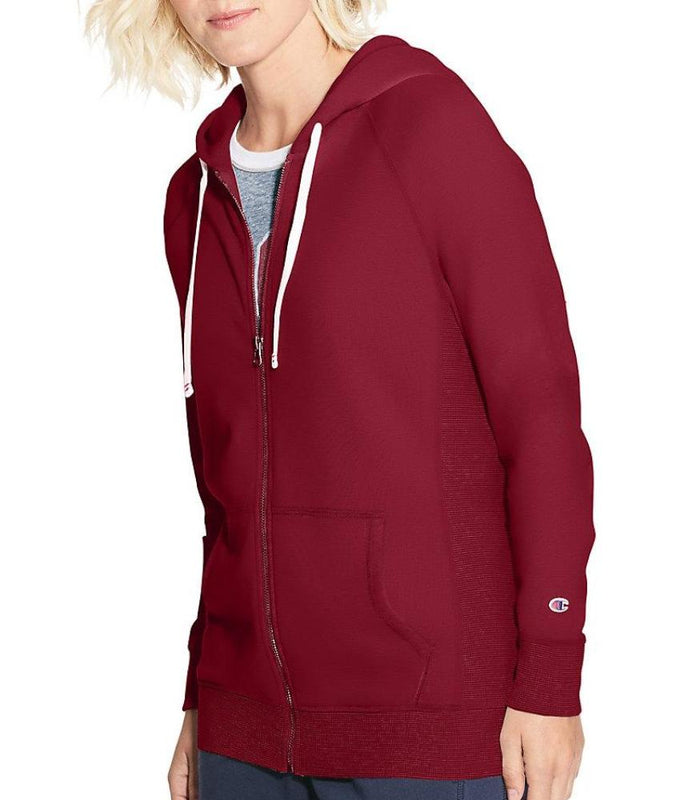 a91a960179d Sideline Red Champion Women s Heritage French Terry Zip Hoodie W9494 image  1 - Brayola