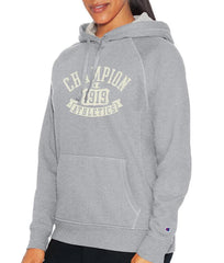 Oxford Grey Heather Champion Women Heritage Fleece Pullover Hood W9535G image 2 - Brayola