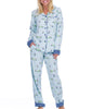 Light Blue Munki Munki Light Blue Snow Gnomes Flnnel CLS PJ M01694 image 2 - Brayola