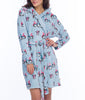 Blue Munki Munki Penguin Coral Fleece Hooded Robe MO1715 image 2 - Brayola