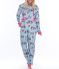 Blue Munki Munki Penguin Coral Fleece Hooded Onesie MO1716 image 2 - Brayola