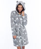 Munki Munki Polar Bear Coral Fleece Hooded Robe MO1751 image 3 - Brayola