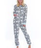 Grey Munki Munki Polar Bear Coral Fleece Hooded Onesie MO1752 image 2 - Brayola